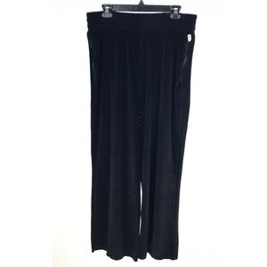Good American High Waisted Black Velour Sweatpants